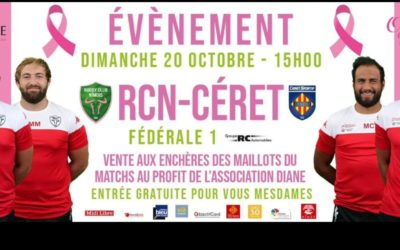 Vente des maillots du match RCN – Céret au profit de Diane